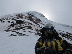 chimborazo climb in good weather